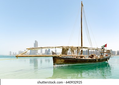 Abu Dhabi, UAE - April 12, 2015: Fishing boat in Abu Dhabi, United Arab Emirates.