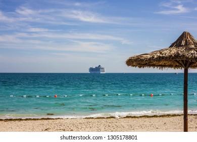 Abu Dhabi, UAE. Beach in Sir Bani Yas island.