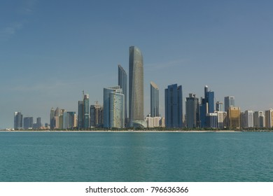 Abu Dhabi, UAE Cityscape during the day