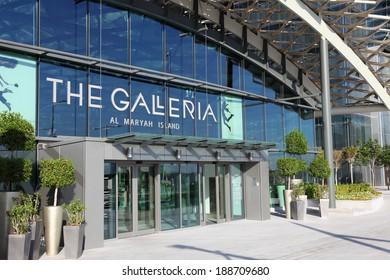 ABU DHABI, UAE - DEC 24: The Galleria Mall at the Al Maryah Island.  December 24, 2013 in Abu Dhabi, United Arab Emirates