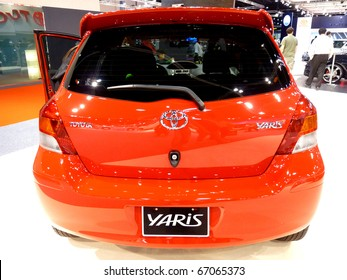 ABU DHABI, UAE - DECEMBER 10: Toyota Yaris on display during Abu Dhabi Int'l Motor Show 2010 at Abu Dhabi Int'l Exhibition Centre December 10, 2010 in Abu Dhabi,United Arab Emirates.