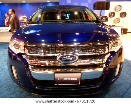 Abu Dhabi Uae December Ford  Edge On Display During Abu Dhabi