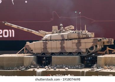 Abu Dhabi, UAE - Feb.23. 2011: The Leclerc tank in IDEX 2011