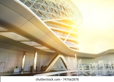 ABU DHABI, UAE - January 05: Viceroy Hotel in Abu Dhabi which is known for its hosting of Formula One Grand Prix races on January 05, 2017 in Abu Dhabi, UAE.
