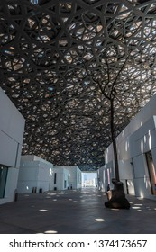 ABU DHABI, UAE - July 2, 2018: Inside the Louvre Abu Dhabi museum