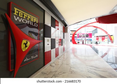 ABU DHABI, UAE - JUNE 1: Ferrari World Theme Park in Abu Dhabi. June 1, 2011 in Abu Dhabi, United Arab Emirates