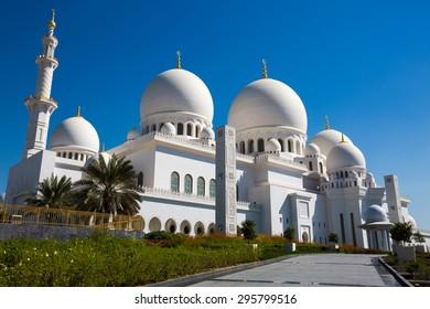 ABU DHABI, UAE - NOVEMBER 12: Sheikh Zayed Grand Mosque, Abu Dhabi, UAE on November 12, 2014 in Abu Dhabi.