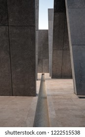 ABU DHABI, UAE - OCTOBER, 2018: Wahat Al Karamah (Oasis of Dignity) detail. A memorial monument as permanent tribute to UAE's brave Emiratis soldiers.