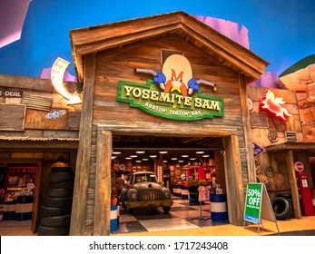 Abu Dhabi, UAE-December 3, 2019: Warner Bros. World Abu Dhabi is an indoor amusement park in Abu Dhabi. The park features characters from Warner Bros.'s such as Looney Tunes, DC Comics, Hanna-Barbera.
