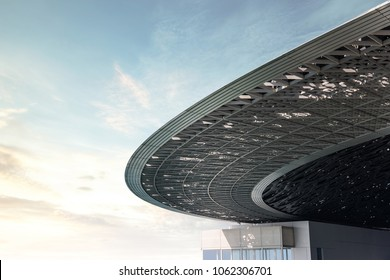 ABU DHABI, UNITED ARAB EMIRATES - MARCH 28, 2018: Interior Louvre Museum in Abu Dhabi, United Arab Emirates.