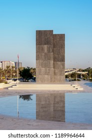 ABU DHABI, UNITED ARAB EMIRATES - JANUARY 11, 2018: Wahat Al Karama Monument.