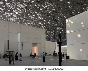 abu dhabi ;/ United Arab Emirates -October 2 2018 Le Louvre Abu Dhabi