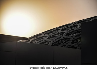 ABU DHABI, UNITED ARAB EMIRATES - OCTOBER 15, 2018: Interior Louvre Museum in Abu Dhabi, United Arab Emirates.