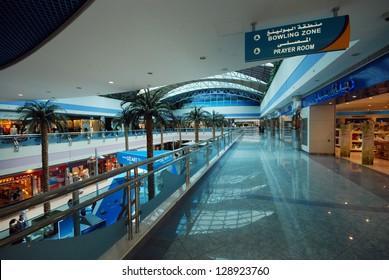 ABU DHABI, UNITED ARAB EMIRATES - APRIL 12: Interior of the Marina Mall April 12, 2012 in Abu Dhabi, United Arab Emirates. This is the biggest shopping mall in Abu Dhabi