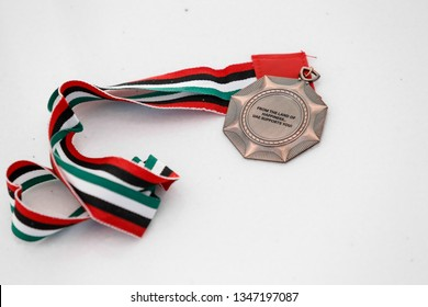 Abu Dhabi, United Arab Emirates - March 20, 2019: UAE as a place of happiness gifts during Special Olympics World Games in Abu Dhabi National Exhibition Centre.