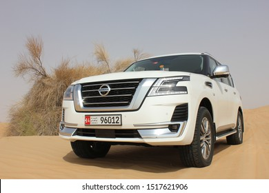 Abu Dhabi, United Arab Emirates - September 24, 2019: Global launch and reveal event of the new Nissan Patrol 2020 SUV. Nissan is producing the Patrol model since 1951.