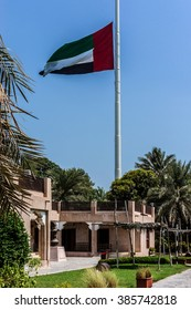 ABU DHABI, UNITED ARAB EMIRATES - SEPTEMBER 5, 2015: View of Heritage Village - one of the best cultural attractions. It is a re-creation of an Emirates village and showcases the Bedouin lifestyle.