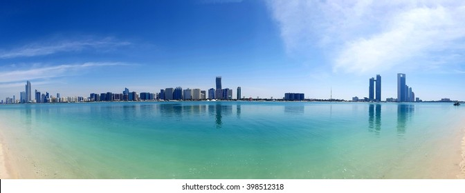 Abu Dhabi, United Arab Emirates, 27 March 2016: Abu Dhabi panorama
