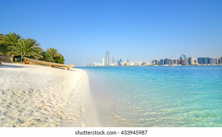 Abu Dhabi, United Arab Emirates. beach