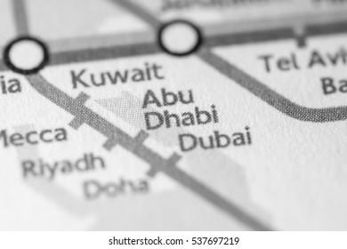 Abu Dhabi World Map Stock Photos, Images & Photography