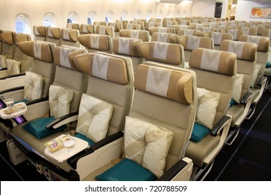 Etihad Airways Airbus A380 Economy Class Images Stock Photos
