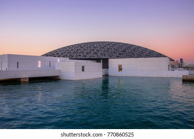 Abu Dhabi, United Arab Emirates, 30-Nov-2017: Louvre Abu Dhabi, a new landmark of Abu Dhabi.