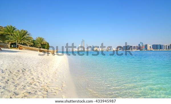 Abu Dhabi, Vereinigte Arabische Emirate. Strand