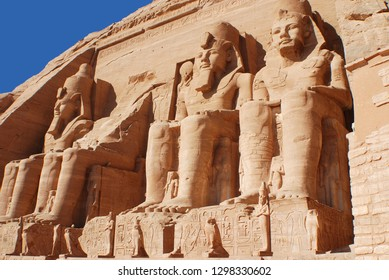 """ABU SIMBEL 11 25 2008:  Abu Simbel temples are two massive rock temples in Abu Simbel in Nubia, southern Egypt.The complex is part of the UNESCO World Heritage Site known as the """"Nubian Monuments,"""