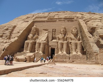 Abu Simbel, Egypt - April 8, 2010: The Abu Simbel temples at Abu Simbel, Nubia, Egypt.