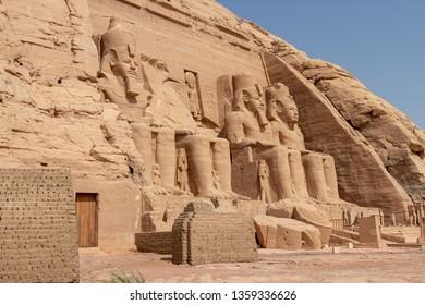 Abu Simbel, the Great Temple of Ramesses II, Egypt