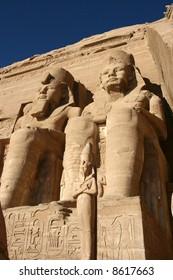 Abu Simbel temple in Egypt.