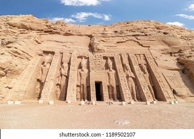 Abu Simbel, the temple of Hathor and Nefertari, also known as the Small Temple, Egypt
