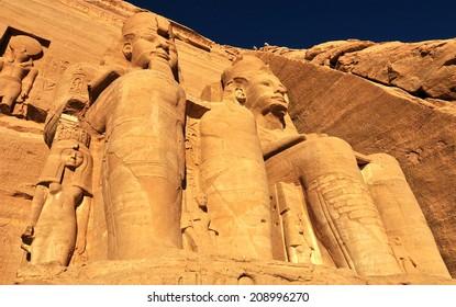 Abu Simbel Temple of King Ramses II, Egypt.