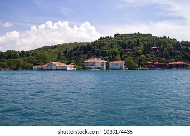 Abud Efendi and K?br?sl? villas on the Bosporus shores in Istanbul, Turkey.