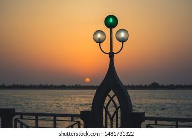 Abudhabi, UAE- July 26, 2019: Evening time in Abudhabi corniche area.