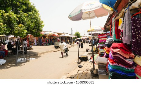 Abuja City, Federal Capital Territory, Nigeria- April 8, 2019: Cross section of Wuse market Abuja