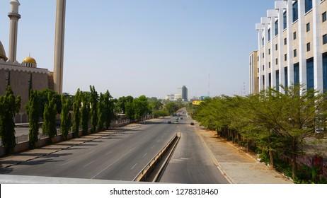 Abuja, FCT Nigeria- December 29, 2018: Abuja City highways