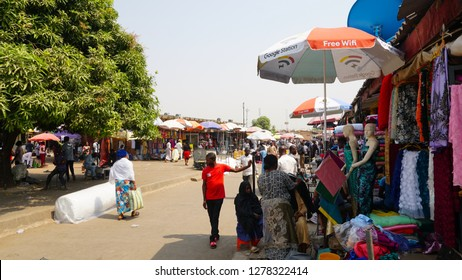 Abuja, Federal Capital Territory Nigeria. December 35, 2018: A cross section of Wuse Market Abuja