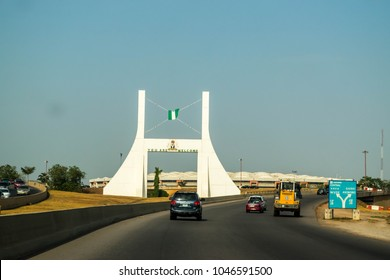 Abuja, NIGERIA - November 2, 2017: Abuja City Gate Monument