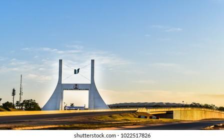 Abuja, NIGERIA - November 2, 2018: Abuja City Gate Monument