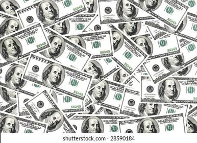 Abundance of dollar for background