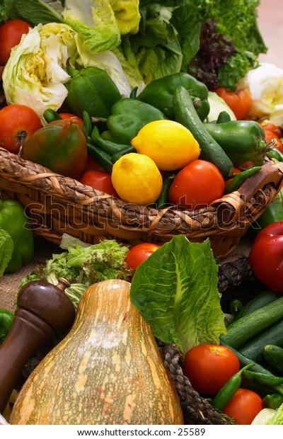 An abundance of vegetables.