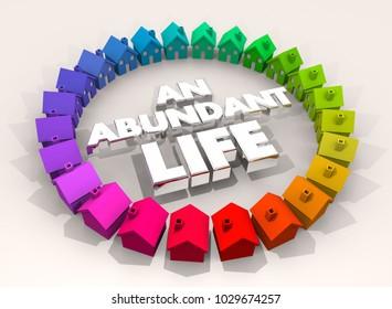 An Abundant Life Home Comfortable Living 3d Illustration