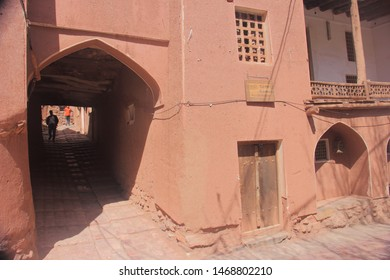 Abyaneh Village, Iran - April 22 2019. Purzala Mosque or Purzaleh Mosque in Abyaneh Village which is Iranian oldest traditional village characterized by it's reddish hue buildings in Isfahan Province,