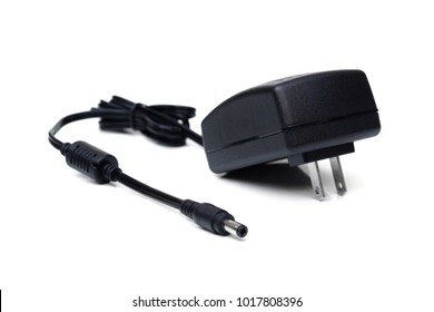 AC adapter isolated on white