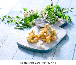 Acacia flowers fritters.