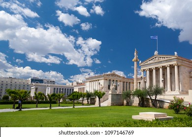 Academy of Athens, and the National Library of Athens, Greece.