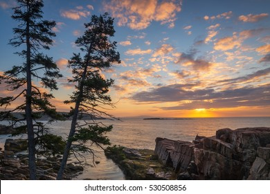 Acadia National Park sunrise in Maine.