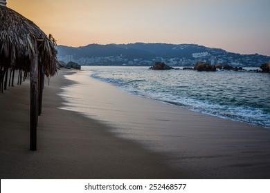 Acapulco Bay just before dawn