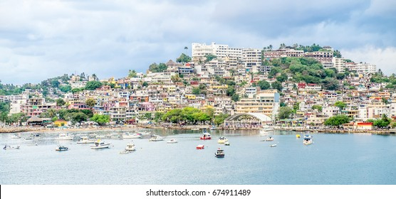 Acapulco Bay, location of Acapulco, a city, tourist resort and major seaport in the state of Guerrero on the Pacific coast of Mexico,